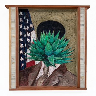 "Agave neomexicana, 25"" x 25"" x 2.5"" 